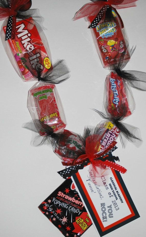 Red+and+Black+Graduation+Candy+Necklace/Lei+by+TheCandiedBoutique,+$10.00