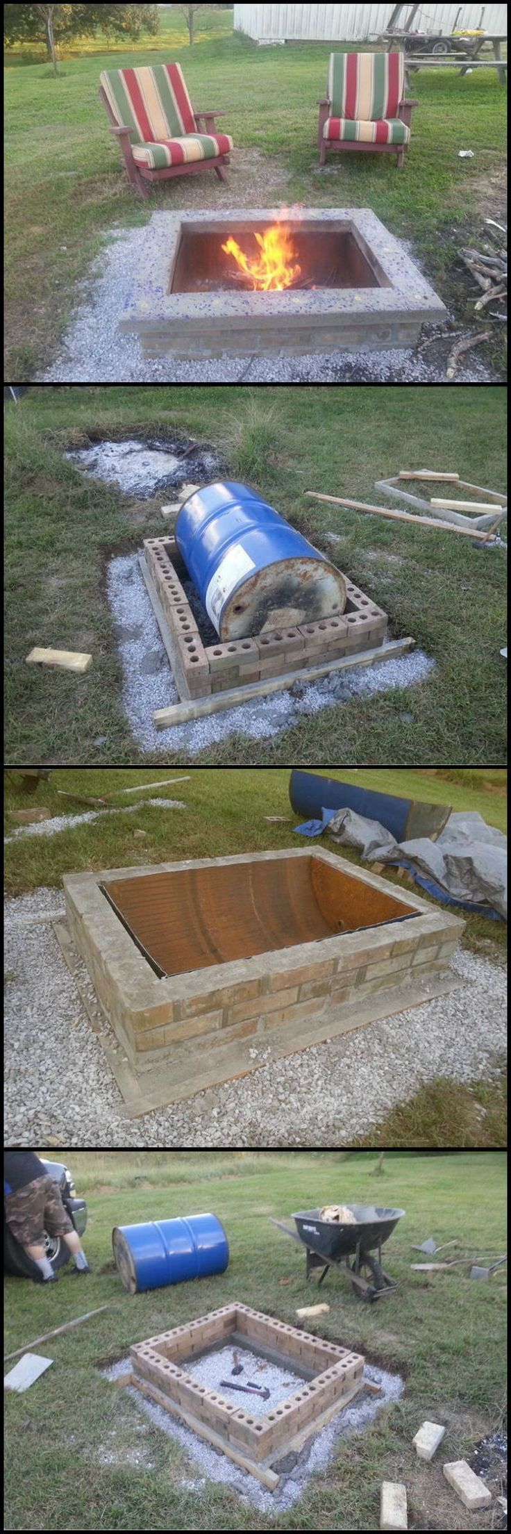 How To Build A Fire Pit With Custom Cap Stone http://theownerbuildernetwork.co/9djg Does your outdoor space need a fire pit? Keep your outdoor space cozy and warm with this DIY fire pit project!