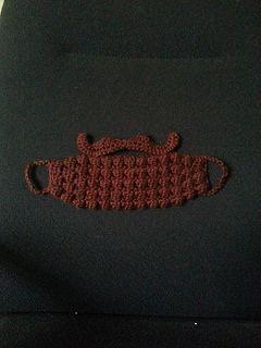 Crochet beard and mustache pattern.