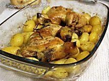 Sovracosce di pollo al forno con patate, ricetta facile