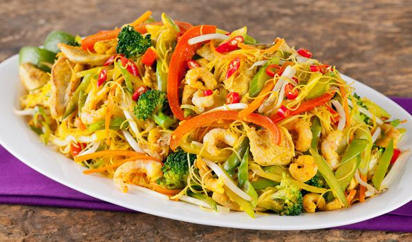 Spicy Singapore Noodles #EasyNip: Singapore Noodles, Rice Recipes ...