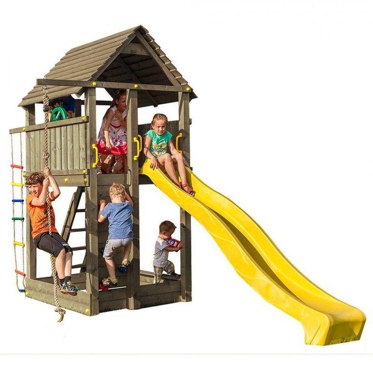Cool Gro er Spielturm mit Rutsche Kletterturm Piratenfestung aus Holz KDI mit Zubeh r in Spielzeug Spielzeug f r