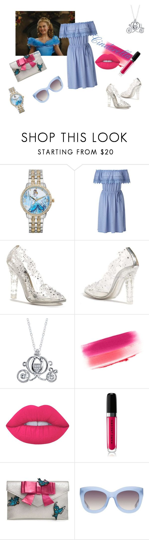 """""""Modern Cinderella"""" by elfafungian on Polyvore featuring Disney, Miss Selfridge, Dolce&Gabbana, Yves Saint Laurent, Lime Crime, Marc Jacobs, Danielle Nicole, Alice + Olivia and modern"""