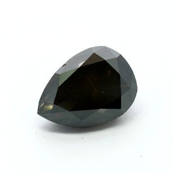 Jet black color natural loose pear cut diamonds in a pair and AAA quality for earrings.