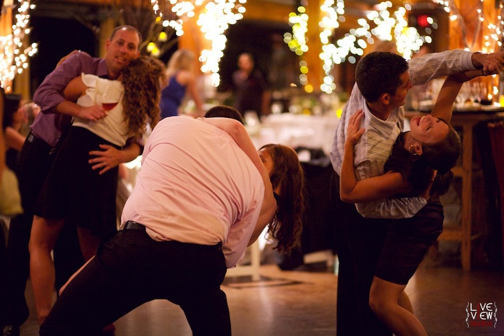 invite all of the married couples onto the dance floor. The DJ announces years of marriage in five-year increments and the couples sit down when they hear theirs called. At the end of the song, the couple that has been married the longest remains...cute idea.