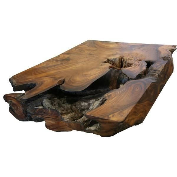 Underwater Acacia Wood Coffee Table Coffee Tables Coffee