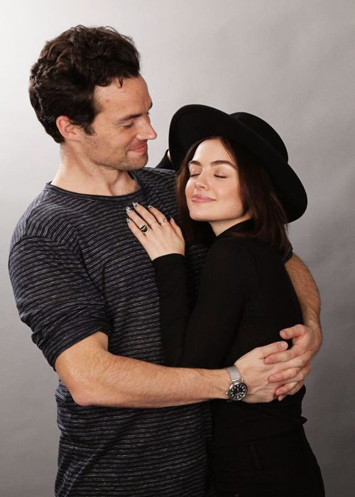 """Lucy Hale & Ian Harding at the 'RevelAtions Germany' Pretty Little Liars Convention Photobooth in Düsseldorf 