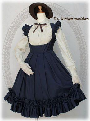 Victorian Maiden Apron Frill Dress