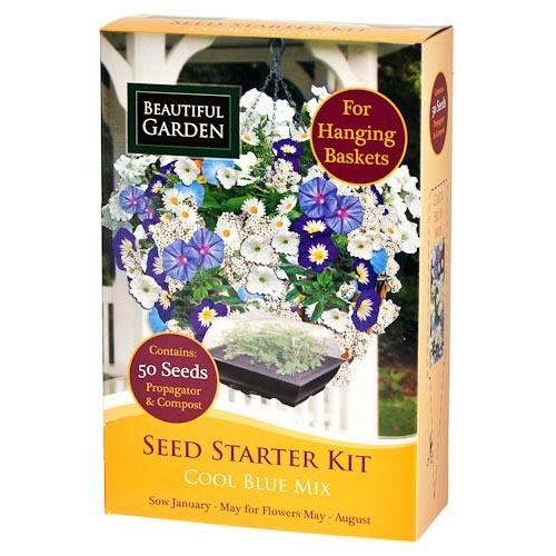 cool blue mix seed starter kit poundland