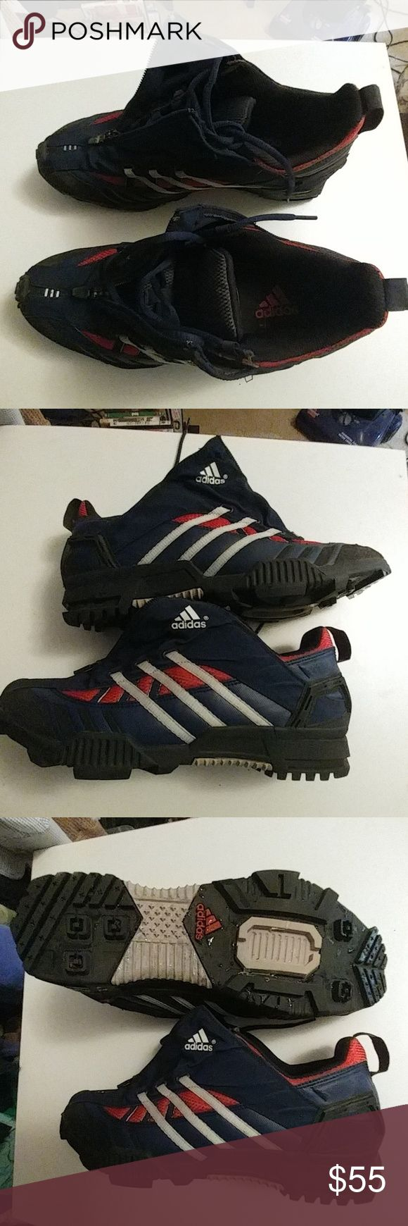 Adidas Blue Red and white Adidas almost bran new, adidas Shoes Sneakers