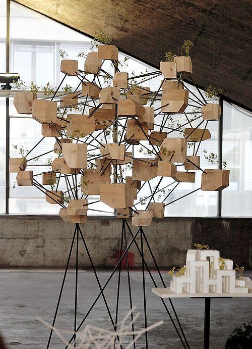 3d wooden garden structure
