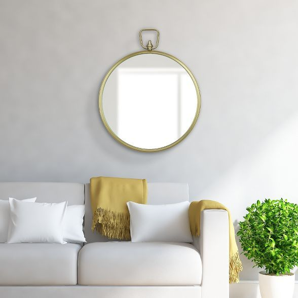 "22"" Wall Mirror with Decorative Handle Gold - Patton Wall ..."