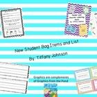 This is a file that has some essentials for New Student Bags and then a list of suggested additional resources that could be used. I use new studen...