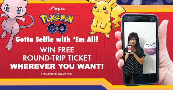 Wanna be a Pokemon Master? But you're stuck hunting in the same place? Win a Flight Ticket to hunt Pokemons abroad! Show your commitment to become a Pokemon Master by taking as many selfies as you can with different Pokemons!  Upload them to your Instagram account and win a Round Trip Ticket to anywhere you want More info : http://ow.ly/5KEz302sdE7  #Airpaz #Travel #Contest #Pokemon #AirpazPokemonSelfie