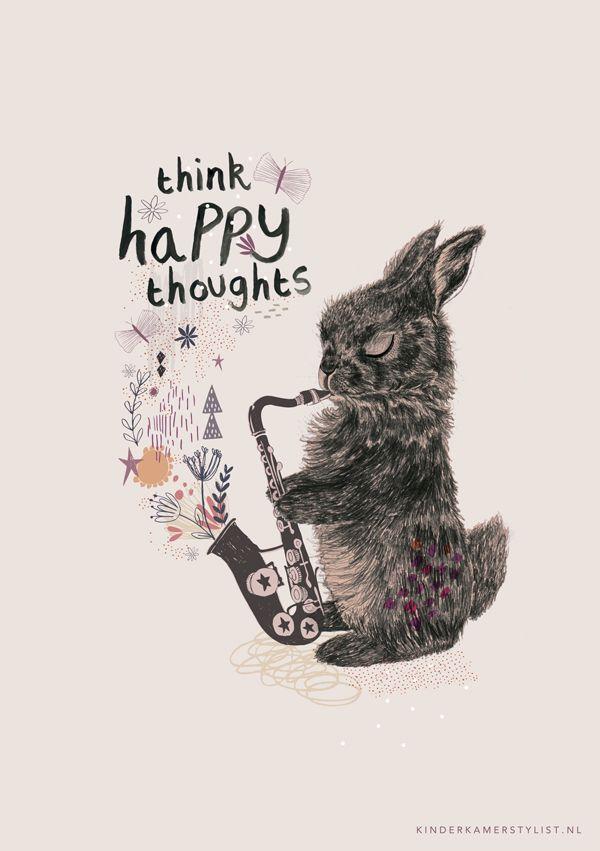 ( - p.mc.n. ) THINK HAPPY THOUGHTS | Rosie Harbottle & Kinderkamerstylist