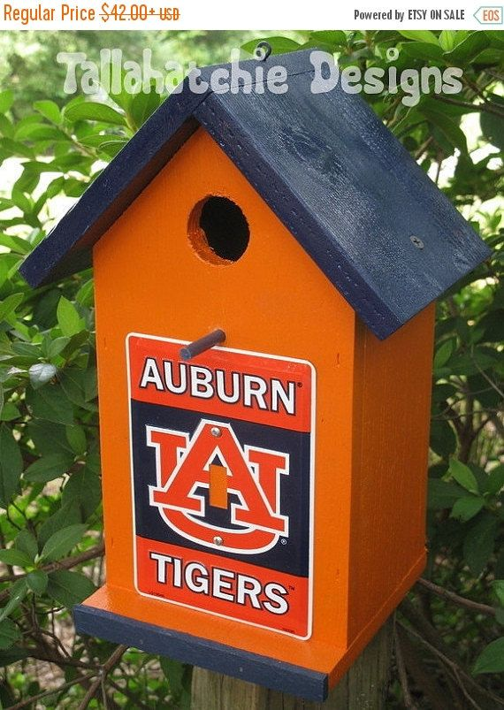 20% OFF TODAY Auburn Tigers, War Eagle, Auburn Tigers Birdhouse by TallahatchieDesigns