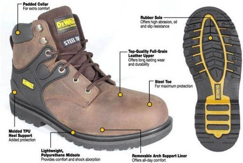DeWALT D66101 Foundation II Black Steel Toe Work Boots, 10.5 D66101W-10H DeWALT. $105.99