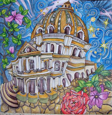The Magical City Adult Coloring Book By Lizzie Mary Cullen