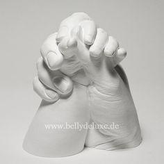 Gipsabdruck Mutter mit Baby / Paar Handabdruck