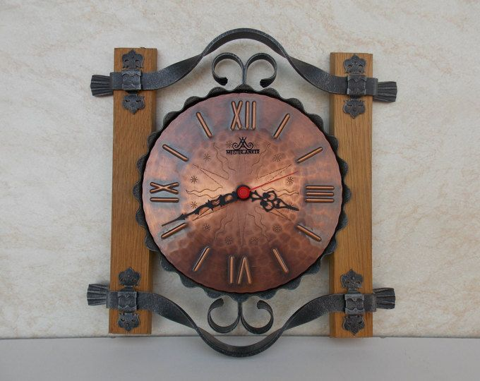 Vintage Germany Wall Clock / Made in germany /Meister anker clock / brass,wood clock / working clock / metal clock / electronic / vintage