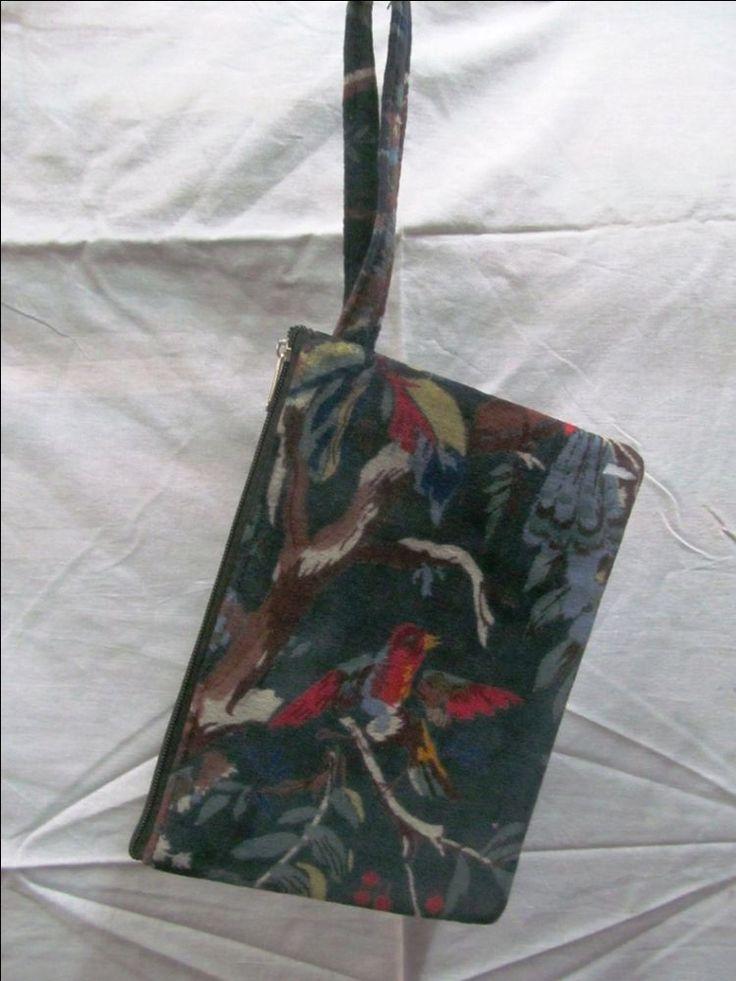 Velvet Printed Fabric Ethnic Cotton Designer Solid Wristlet Handbag Small Bag #Handmade #IpadCaseCover