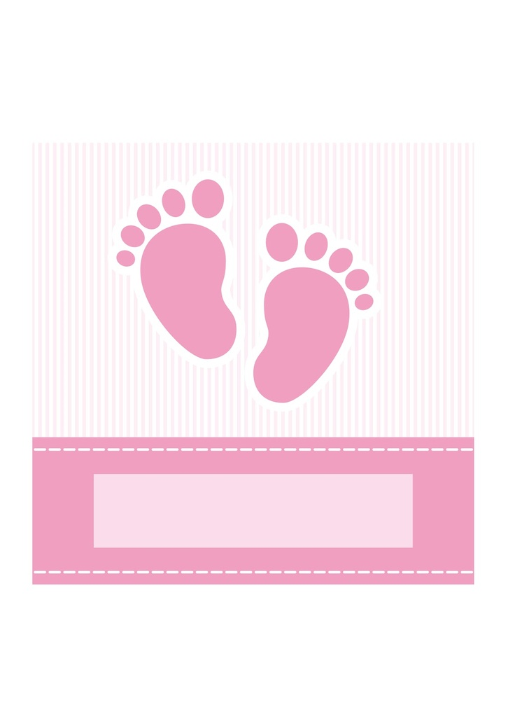 baby girl shower invitation/ birth announcement card - AmicheCreaAttive