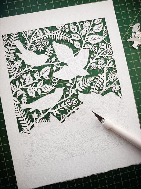Сделать картинку, вырезаем открытку по шаблону
