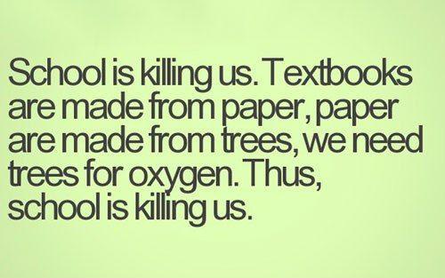 School is killing us