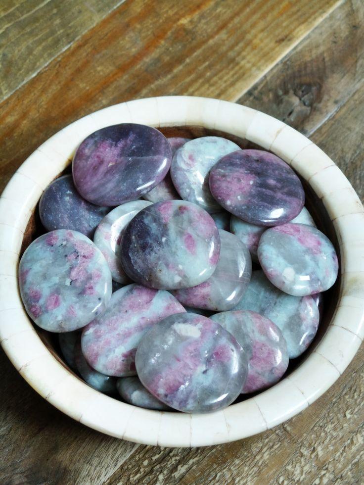 Tumbled Pink Tourmaline in Quartz from Brazil