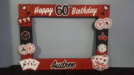 Casino Birthday party photo booth Frame Las vegas