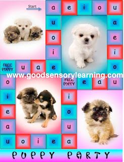 """""""Puppy Party"""" Free Reading Game for Learning the Short Vowel Sounds"""