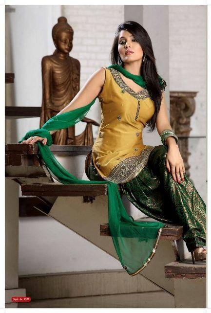 Trendy Summer Patiala Salwar Kameez Collection 2012