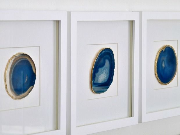 framed agate slices art over bed find this pin and more on wall