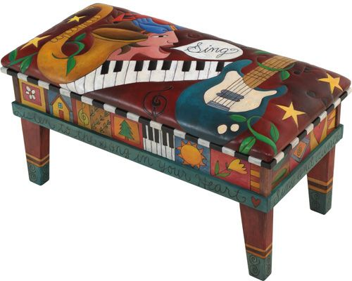 Sticks is hand painted furniture - bright and whimsical.