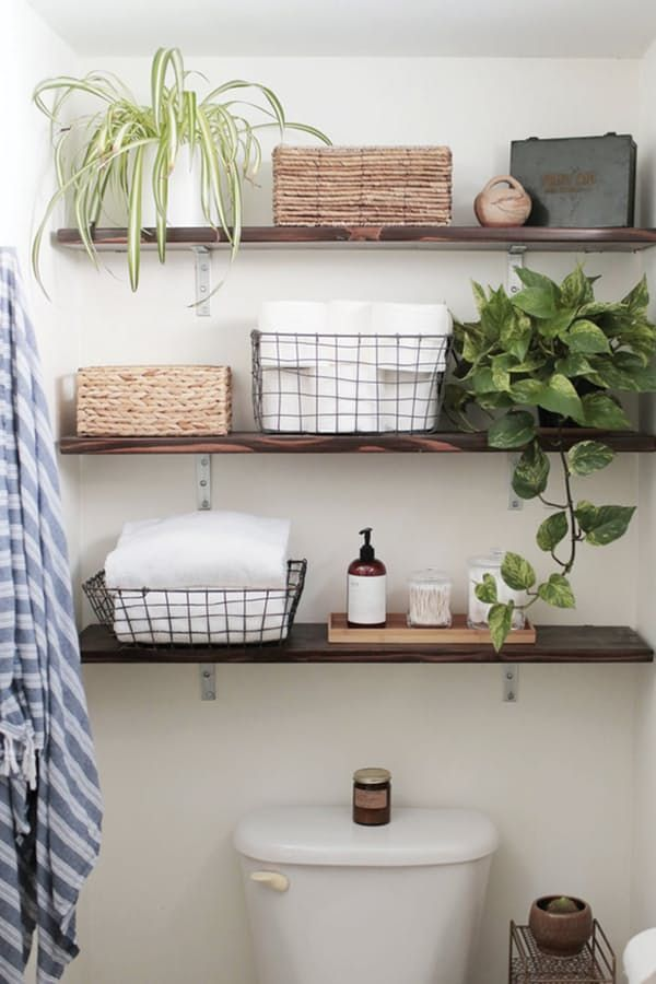 8 ways to refresh your bathroom for 100 or less bathroom shelves over toiletbathroom