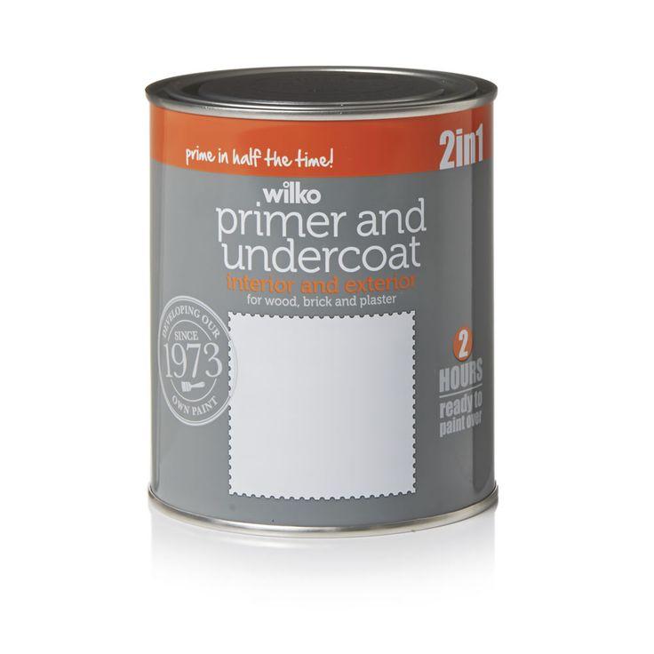 Wilko Quick Dry Primer and Undercoat              White 750ml
