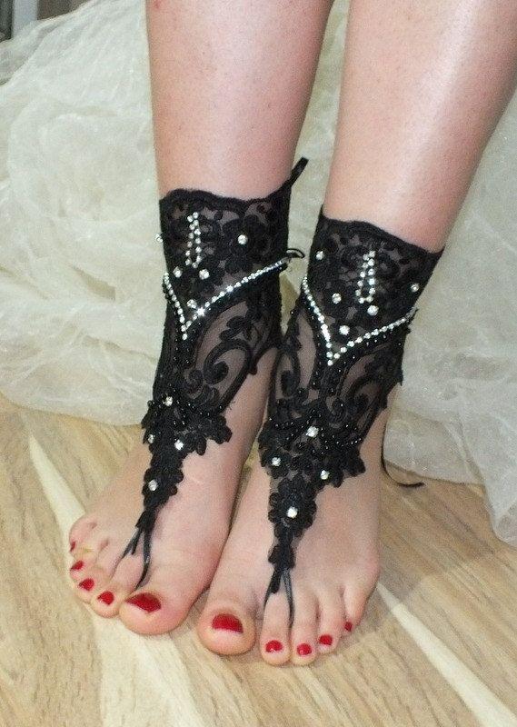 Siyah plaj ayakkabıları, Benzersiz tasarımı, gotik gelinlik sandalet, kement sandalet, düğün gelinlik, bellydance, gotik, giysisi, yaz giyim,