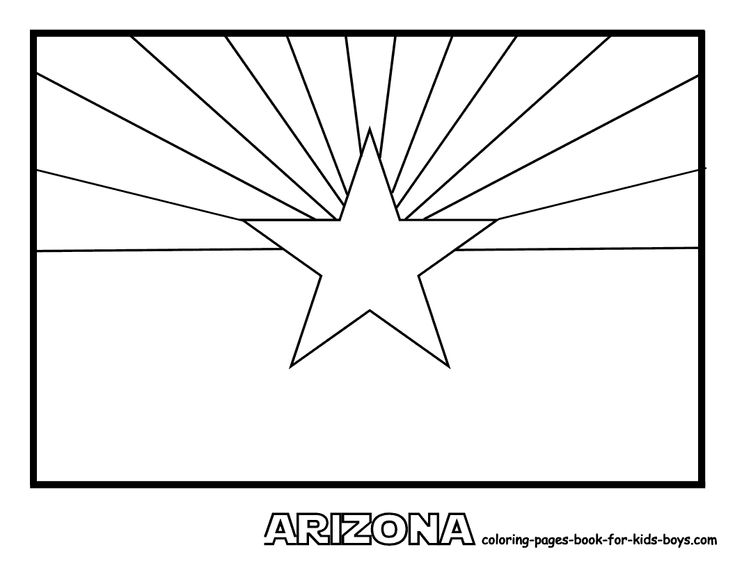 State flag coloring book page social studies pinterest for Arizona state flag coloring page
