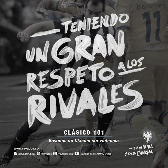 Hoy la #FamiliaRayada se une para vivir un #Clásico101 sin violencia. ¡Vamos #Rayados!
