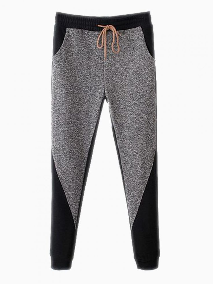 That's what I want! Gray Jersey Sport Pants