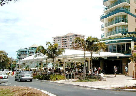 Shopping and coffee at Mooloolaba