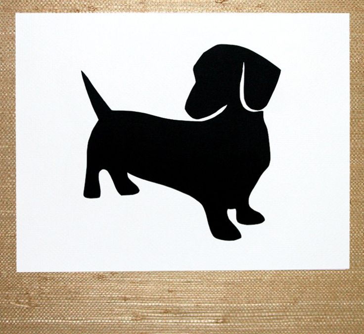 Dachshund Silhouette The Sausage File Pinterest