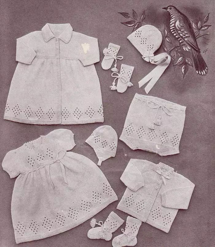 Lullaby baby layette with free knitting patterns