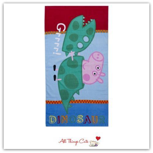 George Pig 'Roar' Towel #Georgepig #peppa #peppapig #abc4kids #towels