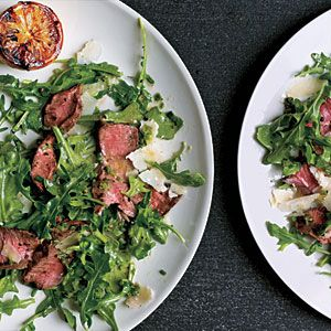 Grilled Steak with Baby Arugula and Parmesan Salad - 300-Calorie Dinners - Cooking Light