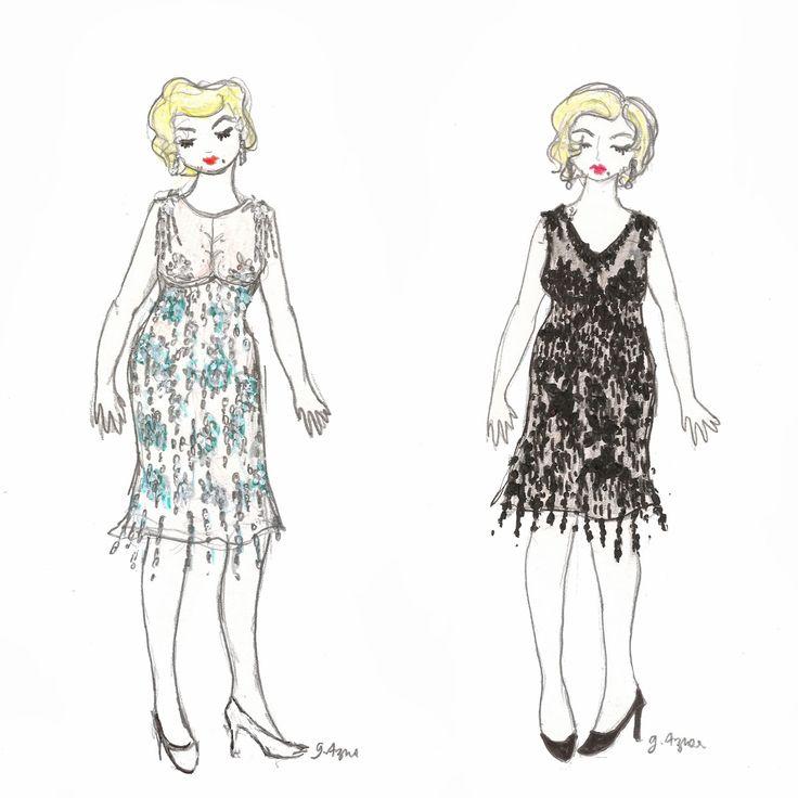 """Marilyn Monroe dans """"Certains l'aiment chaud"""" ♦ Carnet de croquis"""