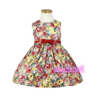 Dress with Belt QSDS627ORG  3Y~16Y