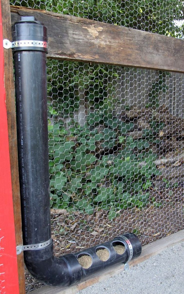 How to build an inexpensive chicken feeder from PVC | The Owner-Builder Network