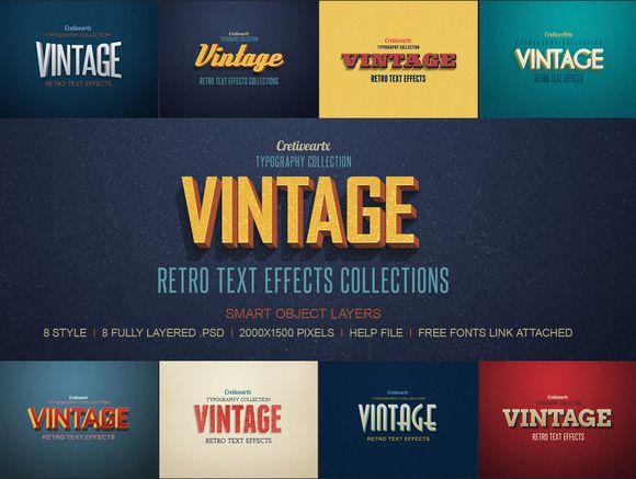 Check out Vintage/Retro Text Effects by creativeartx on Creative Market