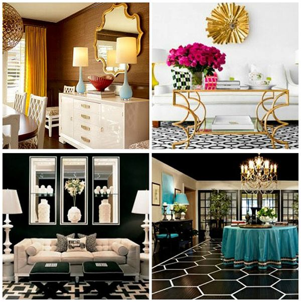 Hollywood Regency Bedroom, Living Room And Dining Room  Image Via The  Design Tabloid Part 49